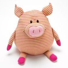 Mushable Pot Bellies Pig Pillow that I have Pig Crafts, Sewing Crafts, Sewing Projects, Fabric Animals, Sock Animals, Pot Belly Pigs, Handmade Soft Toys, Pig Art, Sock Toys