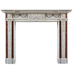 Antique Irish Georgian III White Marble Fireplace Mantel | From a unique collection of antique and modern fireplaces and mantels at http://www.1stdibs.com/furniture/building-garden/fireplaces-mantels/