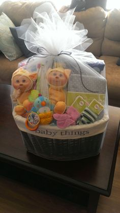 Gift basket for twins