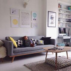 Un salon à la décoration scandinave