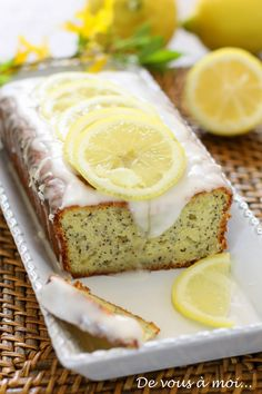 De vous à moi...: Gâteau au yaourt, citron et pavot