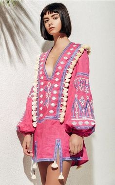 The designer: Based in New York, March11 creates exquisite Vyshyvanka blouses, dresses and jackets. <br><br> This season it's about: Decorative designs with rich texture and volume (tweed jackets, A-line skirts, linen trousers, maxi dresses) are embellished with dainty ruffles and tassel pompom trims. <br><br> The piece to buy: The red and white floral caftan.