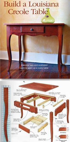Creole Table Plans - Furniture Plans and Projects | WoodArchivist.com