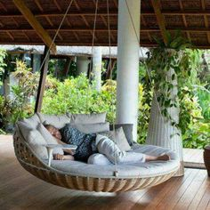 Awesome porch swing bed
