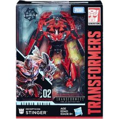 Ad - Transformers Hasbro Studio Series Deluxe Class Decepticon Stinger New Transformers Action Figures, Transformers Masterpiece, Hasbro Transformers, Blockbuster Movies, Iconic Movies, Hasbro Studios, Transformers Collection, Star Wars, Walmart