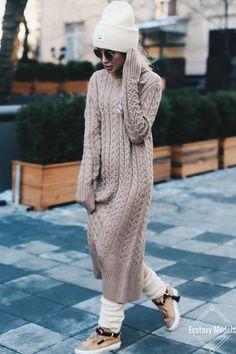Уютная осень свитер DressSweater платье от @ 1111store Fashion Look по shapirotati