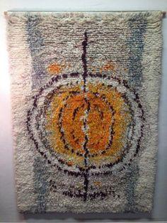 Leena-Kaisa Halme ryijy 158x112 Wall Rugs, Rya Rug, Birches, Floor Cloth, Punch Needle, Rug Hooking, Seas, Vintage Rugs, Finland