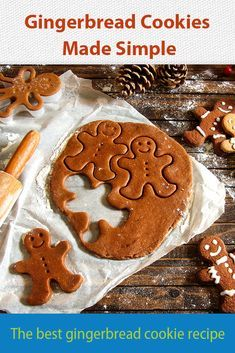 Know anyone who does an ultimate cookie exchange? This gingerbread cookie recipe is for them. Best Gingerbread Cookie Recipe, Gingerbread Latte, Ginger Bread Cookies Recipe, Cookie Recipes, Merry Christmas, Xmas, Biscuits, Best Edibles, Man Cookies