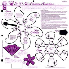 Hot off the Press-12x12 Template-3D Ice Cream Sunday