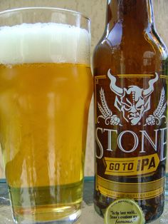 Stone Brewing's Go To IPA -- The aroma is magnificent. Tropical bouquet of tangerines, mangoes, pineapples, grapefruits, sweet and spicy. Citrus forward with lots of lemon and orange zest. Pleasantly bitter though not over the top at all. A sweet orange adds a little balance. Floral, tangy. Crisp on the palate with light prickly wake-up nips. Terrific all around. Check it out!