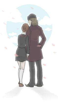 - Shinji/Minako by nranola on DeviantArt Persona Crossover, Persona 3 Portable, Shin Megami Tensei Persona, Female Protagonist, Persona 4, Photoshop Cs5, Anime Boyfriend, Video Game Art, Me Me Me Anime