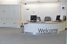 circ desk - not very welcoming look