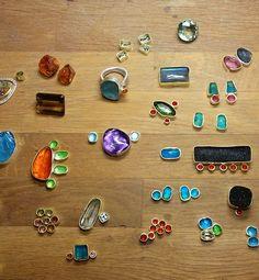 Maria Frantzi Jewellery, creates beautiful handmade jewellery. Maria  Frantzi works with 18k green gold and 925 silver and precious stones.