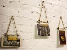 Turn old door hinges into picture holders >> http://www.diynetwork.com/made-and-remade/make-it/how-to-turn-a-door-hinge-into-a-picture-hanger?soc=pinterest