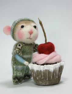 Items similar to Dressed Mouse/Bunny Class  Needle Felting Class to create BOTH the Bunny and Mouse By Barby Anderson (