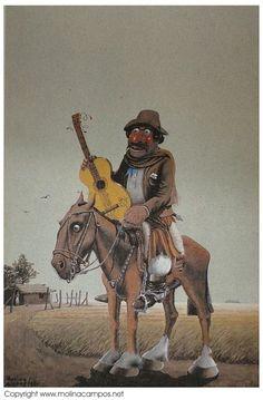 Florencio de los Ángeles Molina Campo (1891-1959) - Molina Campo dibujante y pintor, conocido por sus típico dibujos costumbristas del campo argentino