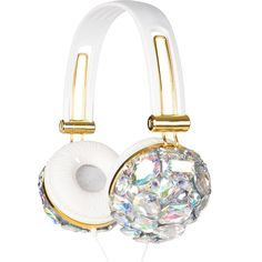 Iridescent Crystal Bling Headphones ($35) ❤ liked on Polyvore featuring accessories, tech accessories, tech, headphones, crystal headphones, sparkly headphones and white headphones This seems impressive? Just what do you think?