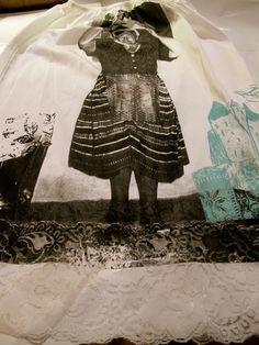 """Sottoveste handmade """" La campeona"""" serigrafia manuale su stoffa by Sorelle Carillio"""