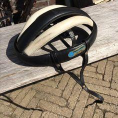 60ties leather racing bicycle helmet,  Detto Pietro -SOLD