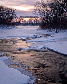 Sunset on Prairie Creek, Illinois, US