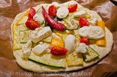 Pizza Vegetarian....Healthy choice...another use for Zucchini...