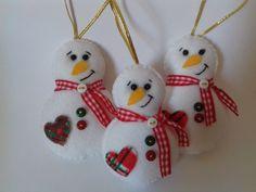 Enfeites de Natal - Boneco de Neve