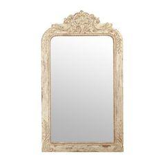 Ornate Ivory Victorian Framed Mirror, 28x49 | Kirklands
