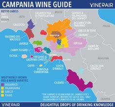 Campania Wine Map. Guide To The Wines Of Campania With DOCs And DOCGs