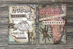 Safari Adventure Invitation Set of 10 by theblueeggevents on Etsy, $19.50