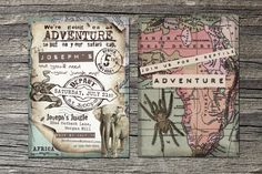 African Safari Adventure Invitation by theblueeggevents, $22.00