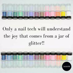 www.lecente.com #glitterlove #glitterquote #lovelecente #lecenteglitter #glitternails #nailtechquote
