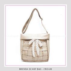 Tas Wanita Murah dan Bagus Brenda Scarf-Bag Cream