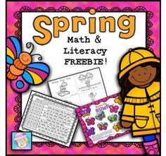 FREE! Spring Math and Literacy K-2
