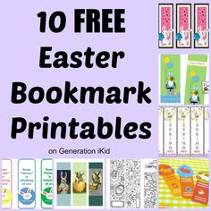 10 FREE Easter Bookmark Printables