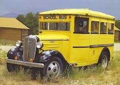 Possibly an early 30's Chevrolet school bus......Brought to you by #House of #Insurance in #EugeneOregon
