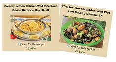 Entree Recipes, Thai Recipes, Soup Recipes, Minnesota Wild Rice, Chicken Wild Rice Soup, Cooking Contest, Creamy Lemon Chicken, Rice Dishes, Entrees