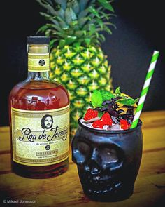 Happy Rum Punch Day! What a better day to celebrate it than a Friday.  While the punch bowl is being prepared we recommend a -Rum Runner 💀🍹- a refreshing Tiki experience by @syncro89(Ig) 😍  Recipe: Mix all ingredients in shaker with ice, shake well and strain in glass - 3 cl light rum - 3 cl Ron de Jeremy Reserva Rum - 3 cl banana liqueur - 3 cl blackberry liqueur - 3 cl orange juice - 3 cl pineapple juice - Splash grenadine Pineapple Juice, Orange Juice, Cocktail Ideas, Juice 3, Recipe Mix, Cl, Blackberry, Whiskey Bottle, Shake