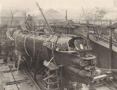 Als hätte H.R. Giger es entworfen: Bilder aus dem Innenleben eines deutschen U-Boots von 1918