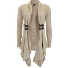 Lipsy Waterfall Textured Cardigan ($52) ❤ liked on Polyvore