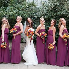 Martha, I like these bridesmaids dresses. Maybe in a darker purple like you wanted ;)