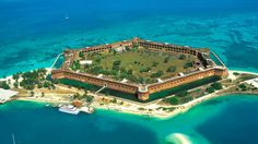 aerial photo of dry tortugas island