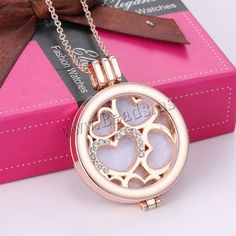 Perfume Locket Necklace, Zinc Alloy, with Cotton, with 2lnch extender chain, Flat Round, rose gold color plated, oval chain & faceted, nickel, lead & cadmium free, 35mm, Length:Approx 23 Inch, 3Strands/Lot,china wholesale jewelry beads