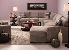 This Artemis II 4-piece microfiber sectional sofa is so easy to decorate with. #myrfholiday #SweepsEntry