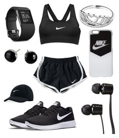 """Untitled #12"" by lovelys215 on Polyvore featuring NIKE, Pandora, Vans and Fitbit"