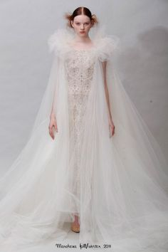 "designer Marchesa Luisa Casati used the fabled Miss Havisham of Charles Dickens' ""Great Expectations"" as inspiration."