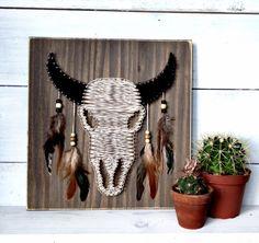 Buffalo Skull String Art Sign, Skull Sign, Buffalo, Rustic Sign, Skull, Wall Art by LoveArtSoul11 on Etsy https://www.etsy.com/listing/264024128/buffalo-skull-string-art-sign-skull-sign