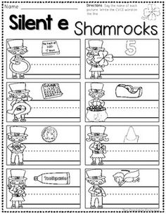 CLICK FILE, PRINT {AND THAT'S IT!} ST. PATRICK'S DAY PRINTABLES FOR KINDERGARTEN - TeachersPayTeachers.com - repinned by @PediaStaff – Please Visit  ht.ly/63sNt for all our pediatric therapy pins