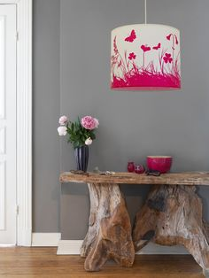 "Our ""Mountain Meadow,"" #lampshade in a beautiful shade of #pink from #annawand"