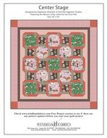 Center Stage by Stephanie Sheridan of Stitched Together Studios #free #freepatterns #diy #quilting #quilts