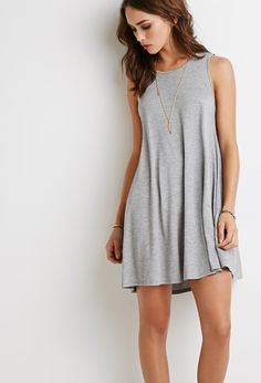 Heathered Trapeze Dress by Forever 21 on HeartThis